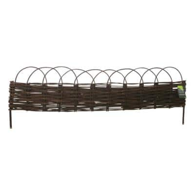 16 in. H x 47 in. L Woven Willow Edging with Arc Top (Set of 2-Pieces)
