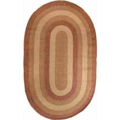 New Mexico Jute braided Multi/Natural 5 ft. x 8 ft. Rug