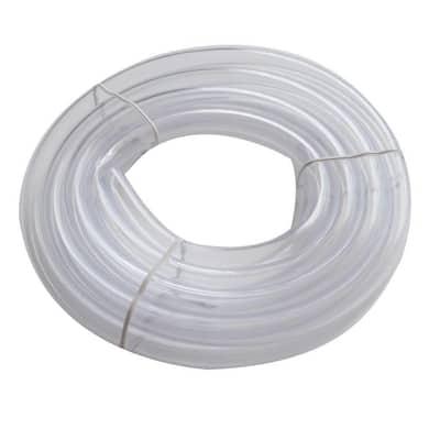 1/2 in. O.D. x 3/8 in. I.D. x 10 ft. Clear PVC Vinyl Tube