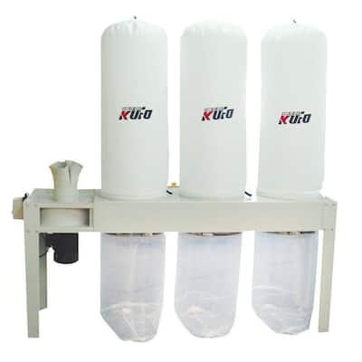 5 HP 3,990 CFM 3-Phase 220-Volt / 440-Volt Vertical Bag Dust Collector (Prewired 220-Volt)