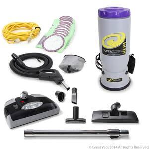 Super QuarterVac Commercial Backpack Vacuum with Head 6 Qt. Quarter Vac