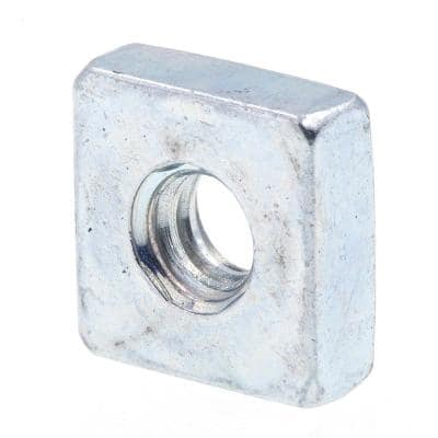 #6-32 Zinc Plated Steel Square Nuts (10-Pack)