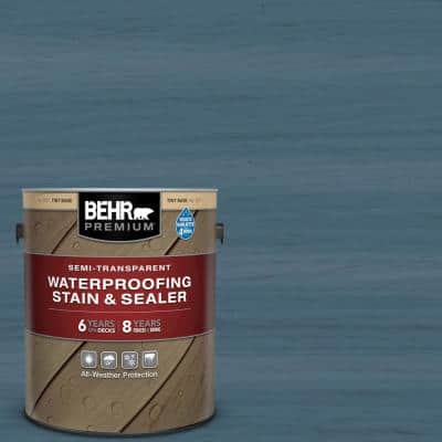 1 gal. #ST-107 Wedgewood Semi-Transparent Waterproofing Exterior Wood Stain and Sealer
