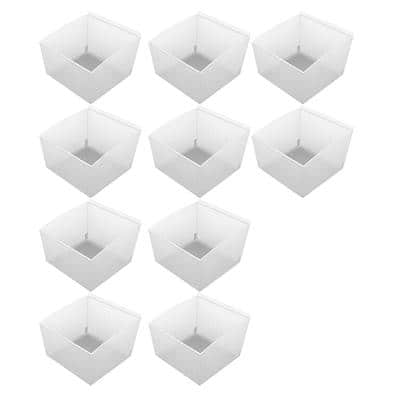 Probin Slatwall Small Clear Storage Bin (10-Pack)