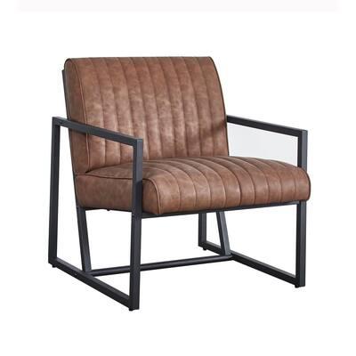 Brown Modern Design High Quality PU Armchair