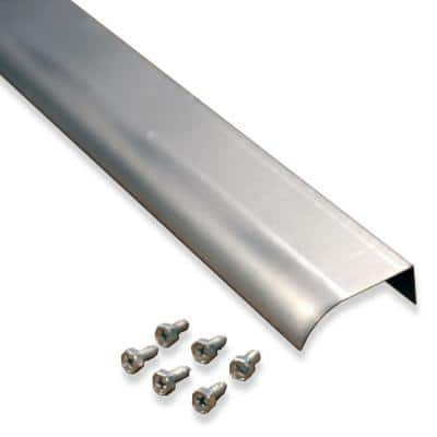 2 in. x 5 ft. Natural Fascia Mounted Aluminum Water Dispersal Gutter Edge Extension with Screws (5-Pack)