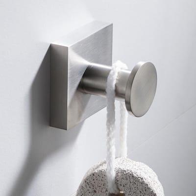 Ventus Bathroom Robe and Towel Hook in Brushed Nickel