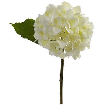 Indoor 12 in. Hydrangea Artificial Flower (Set of 12)