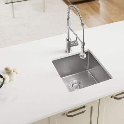 Stainless Steel 17 in. Single Bowl Undermount Kitchen Sink with Additional Accessories