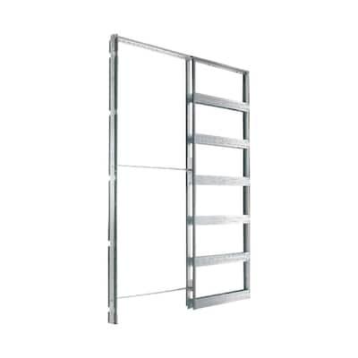 32 in. x 84 in. Steel Single Pocket Door Frame System