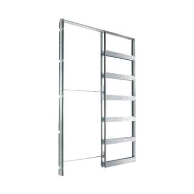 36 in. x 80 in. Steel Single Pocket Door Frame System