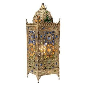 Chennai 24 in. Gold Indoor Jeweled Table Lamp