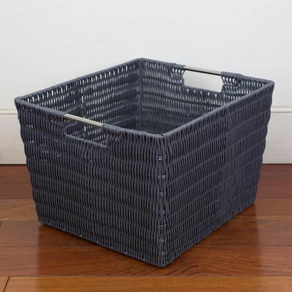Basics Fabric Storage Basket with Handles Medium 2-Pack