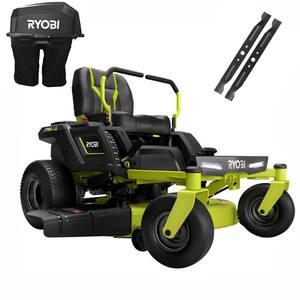 RYOBI 42 in. 75 Ah Battery Electric Mower and Bagging Kit Deals