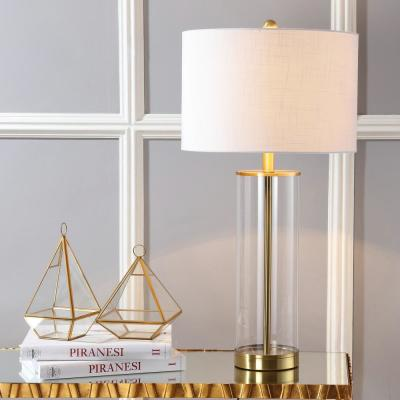 Collins 29 in. H Brass Gold Glass Table Lamp