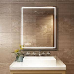 Medium Rectangle Lighted Mirror (36 in. H x 30 in. W)