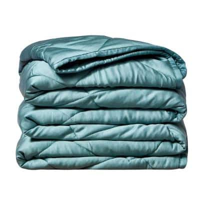 Green Bamboo 48 in. x 72 in. x 12 lbs. Weighted Throw Blanket