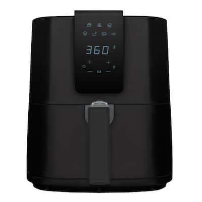 5.5 qt. Black Digital Air Fryer with Slide Out Pan/Detachable Basket