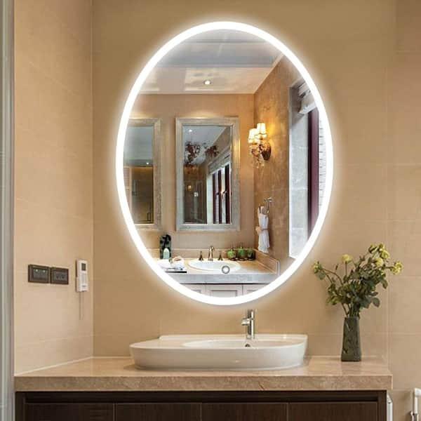 Vanity Art 23 5 In W X 35 H, Home Depot Bathroom Mirror With Lights