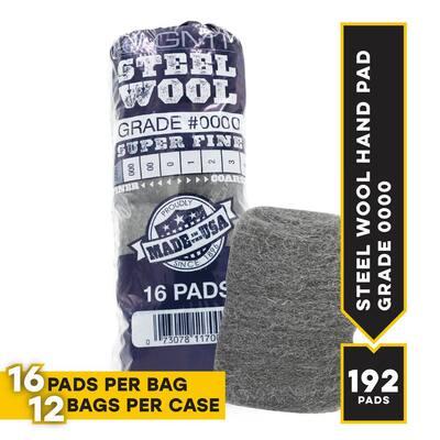#0000 16 Pad Steel Wool Super Fine Grade (Case of 12)