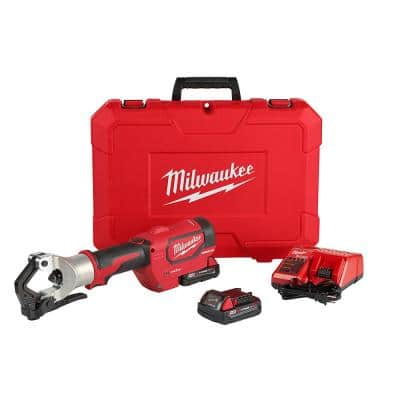 M18 18-Volt Lithium-Ion Cordless FORCE LOGIC 750 MCM Dieless Crimping Tool Kit with 2 2.0 Ah Batteries and Bag