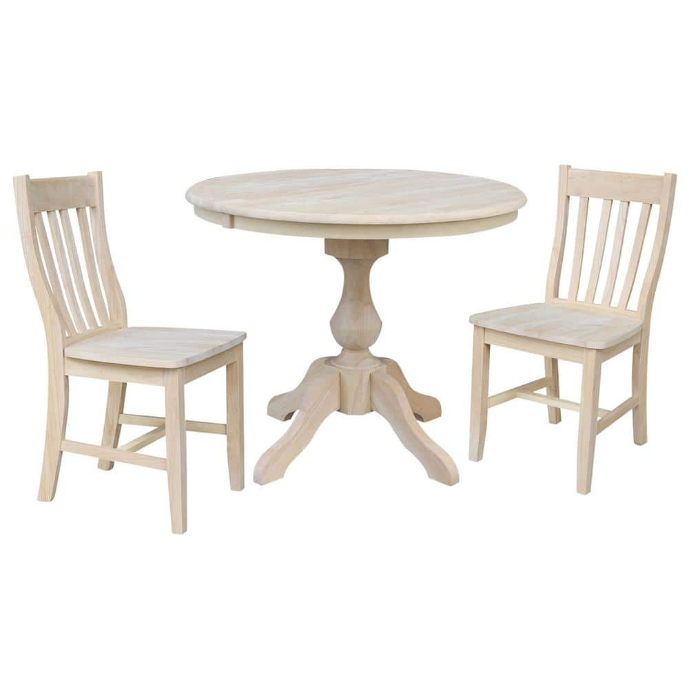International Concepts Sophia 9 Piece 96 in. Unfinished Extendable Solid  Wood Dining Set with Cafe Chairs K 96RXT 9B C9 9   The Home Depot
