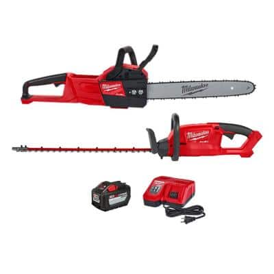 M18 FUEL 16 in. 18-Volt Lithium-Ion Battery Brushless Cordless Chainsaw w/M18 FUEL Hedge Trimmer Combo Kit(2-Tool)