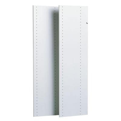 14 in. x 48 in. Classic White Wood Vertical Panels (2-Pack)
