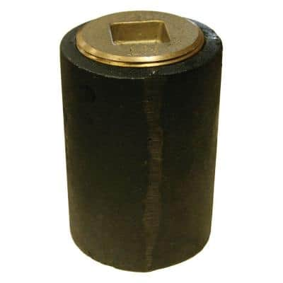 2-1/2 in. x 3 in. Pipe Plug Cast Iron Plain End Long Pattern Southern Code Cleanout w/ Raised Head (Low Square) for DWV