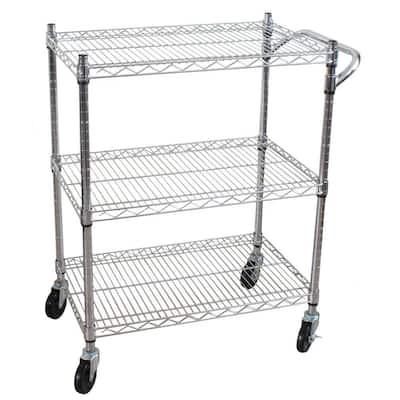 3-Tier Steel Heavy Duty All-Purpose Utility Cart