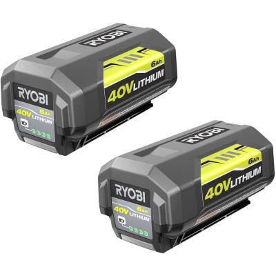 40V Lithium-Ion 6.0 Ah High Capacity Battery (2-Pack)