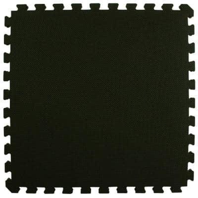 Home MMA BJJ Black/Gray 24 in. x 24 in. x 1-5/8 in. Foam Interlocking Floor Tile (Case of 10)