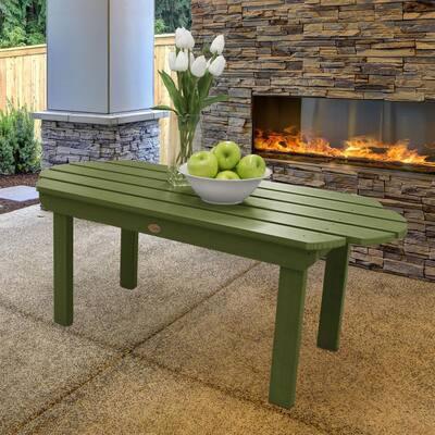Classic Westport Dried Sage Rectangular Plastic Outdoor Coffee Table