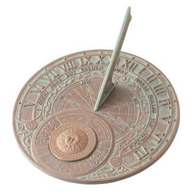 Copper Verdigris Perpetual Calendar Sundial