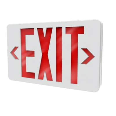 Thermoplastic LED White Emergency Exit Sign with Battery