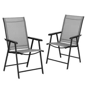 Casainc Adjustable Portable Folding Metal Outdoor Dining Chair In Black Hyh20bk 2 The Home Depot