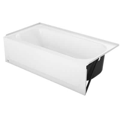 Maui Plus 32 in. x 60 in. x 75.62 in. Bath and Shower Kit with Right Drain in White and Door in Dark Bronze