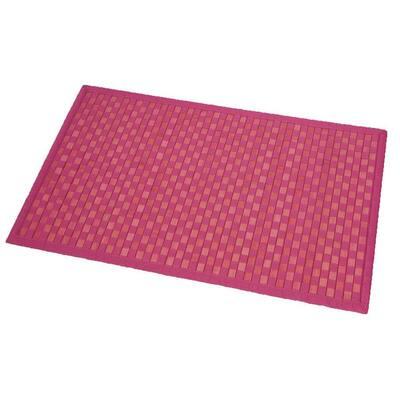 Bath Mat Bamboo Rug In Cross Twill Rug Checkerboard Pink