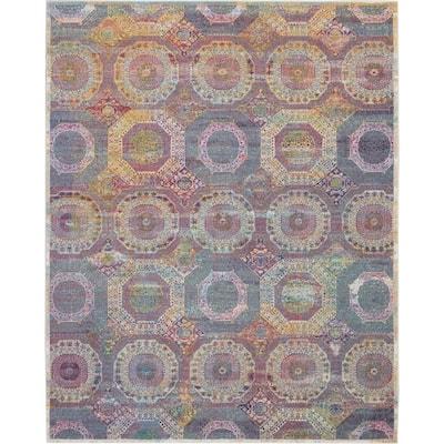 Global Vintage Multicolor 8 ft. x 10 ft. Moroccan Bohemian Area Rug