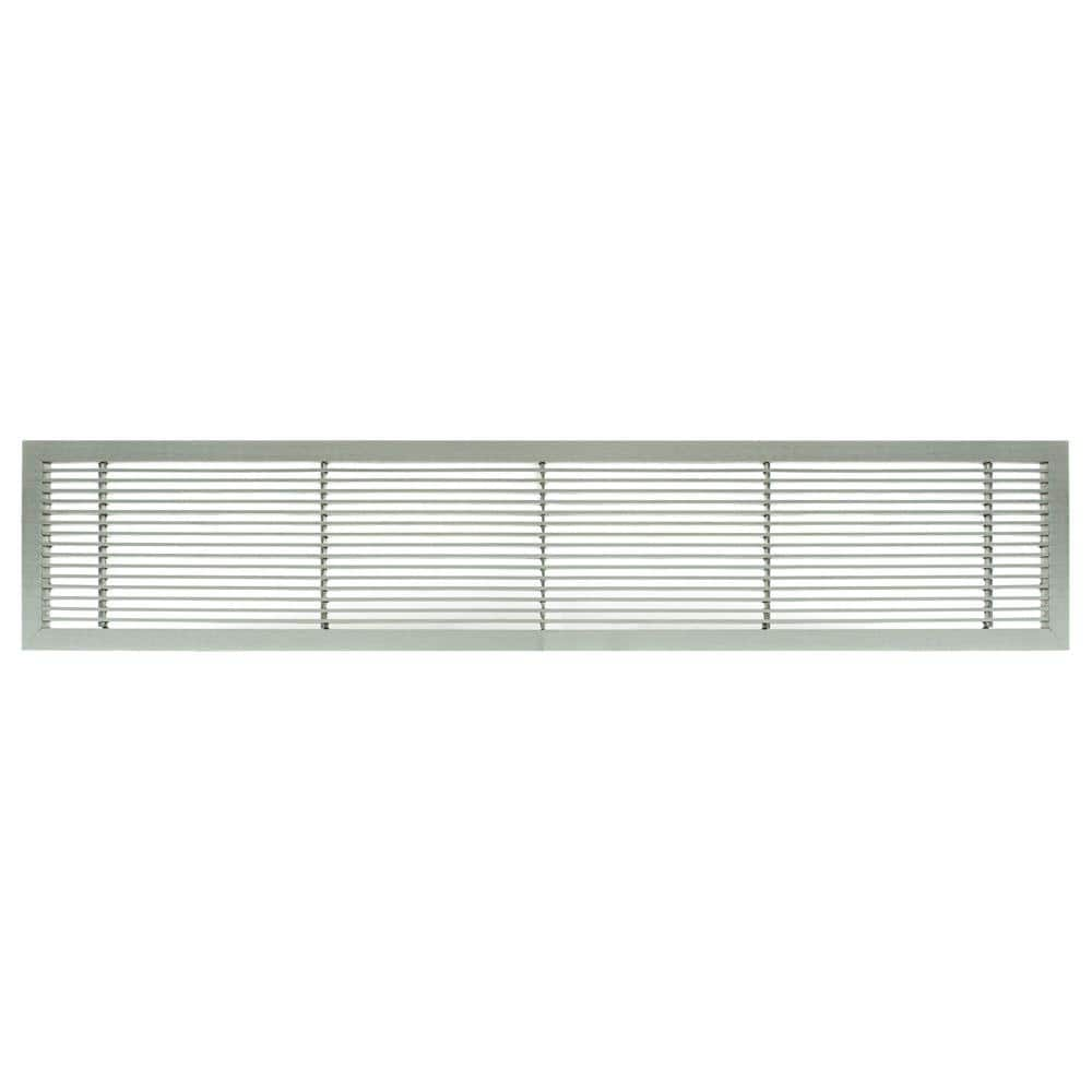 Architectural Grille Ag10 Series 4 In X 36 In Solid Aluminum Fixed Bar Supply Return Air Vent Grille Brushed Satin 100043601 The Home Depot