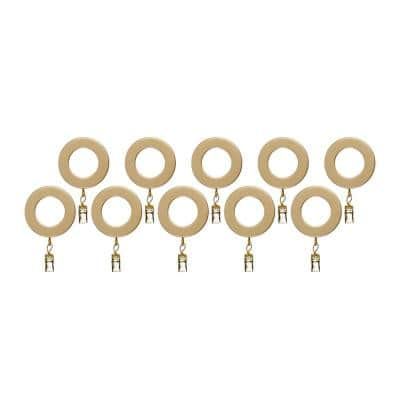 Resin Rings in Satin Brass (10-Pack)