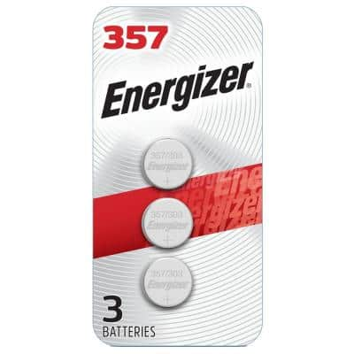 357/303 Batteries (3 Pack), 1.5V Silver Oxide Button Cell Batteries