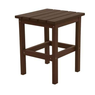 Icon Chocolate Square Plastic Outdoor Side Table