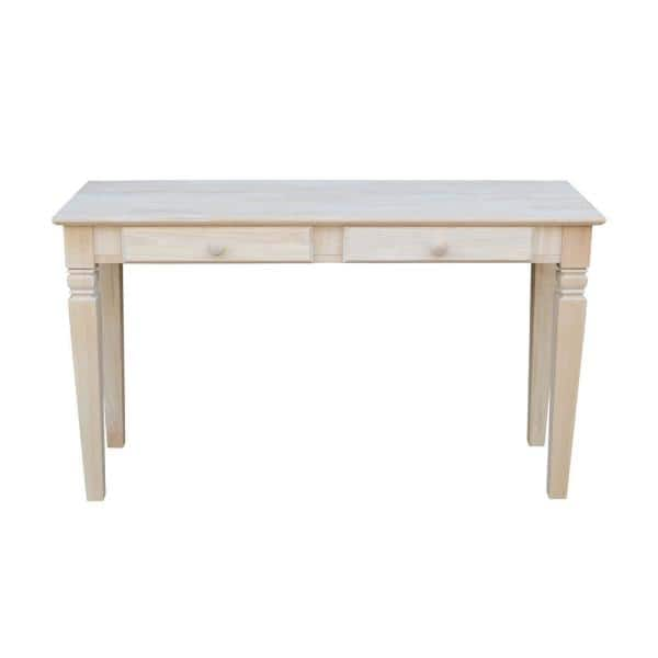 International Concepts Java 52 In Unfinished Standard Rectangle Wood Console Table With Drawers Ot 60s2 The Home Depot