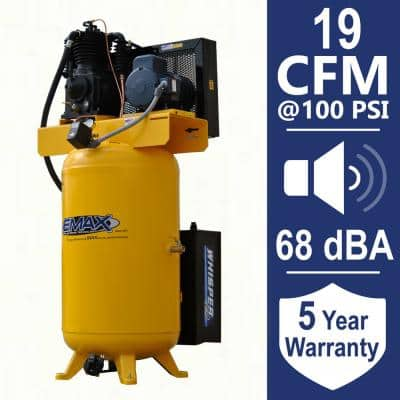 Industrial Plus 80 Gal. 5 HP 460-Volt 3-Phase Silent Electric Air Compressor