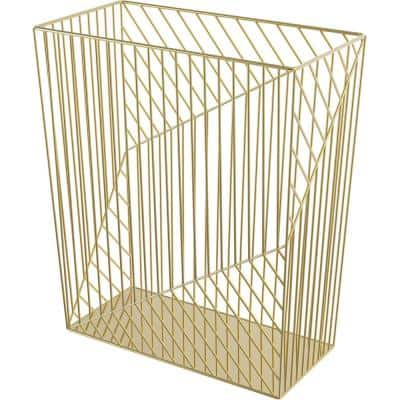 6 Gal. Gold Metal Waste Receptacle