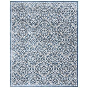 Brentwood Navy/Cream 8 ft. x 10 ft. Area Rug