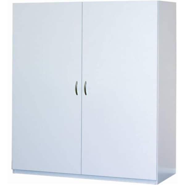 White Melamine Jumbo Storage Cabinet, 24 Inch Deep Storage Cabinets