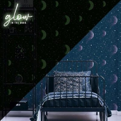 Planeterium Taupe Wallpaper Sample