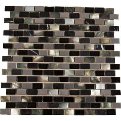 Midnight Pearl 12 in. x 12 in. x 8 mm Mixed Mosaic Tile (10 sq. ft. / case)